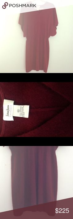 Cashmere Dress Neiman Marcus Cashmere Collection butterfly sleeve dress in a cranberry color, size XL, good condition Neiman Marcus Dresses Midi