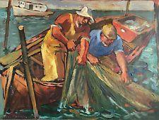 Robert von Neumann Original Oil Painting Wisconsin Regionalism WPA