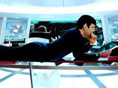 "zacharyquintoupdates: "" Behind the Scene of Star Trek by Dan Mindel // 27 JAN "" Star Trek Cast, Star Trek Spock, Star Trek Series, Star Wars, Star Trek Reboot, Spock And Kirk, Star Trek 2009, Star Trek Beyond, Zachary Quinto"