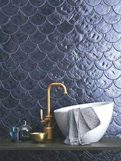 Prepare the swimsuit because they arrive ... the mermaid tiles! #bathroom #bathroomideas #bathroomdecor #bathroomideas #bathroomremodel