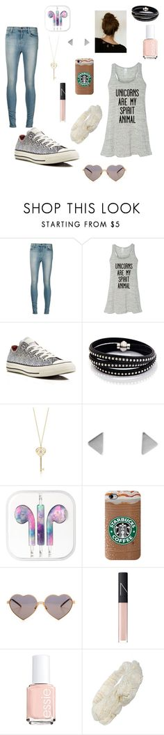 """""""Casual"""" by cherrywood77 ❤ liked on Polyvore featuring J Brand, Converse, Sif Jakobs Jewellery, Wildfox, NARS Cosmetics and Essie"""