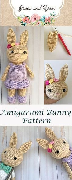 Mesmerizing Crochet an Amigurumi Rabbit Ideas. Lovely Crochet an Amigurumi Rabbit Ideas. Crochet Bunny Pattern, Crochet Amigurumi Free Patterns, Baby Knitting Patterns, Crochet Dolls, Embroidery Patterns, Baby Patterns, Knitting Tutorials, Free Knitting, Free Tutorials
