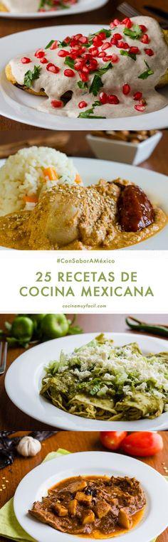 La cocina mexicana ha sido es nuestro orgullo y una de nuestras principales motivaciones: ¡te vamos a antojar con estas 25 recetas! http://cocinamuyfacil.com/25-recetas-de-cocina-tradicional-mexicana-porque-tenemos-mucho-que-celebrar/