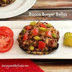 Bacon burger stuffed portobellos