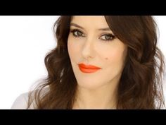 Keira Knightley Red Carpet Look - How to Wear an Orange Lip - Lisa Eldridge Orange Lipstick, Orange Makeup, Celebrity Makeup, Celebrity Look, Beauty Tutorials, Beauty Hacks, Makeup Tutorials, Beauty Makeup, Hair Makeup