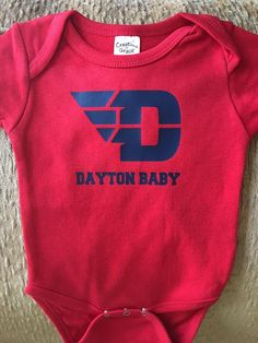 c73dfd1bf Dayton baby onesie I made for a UD friend. Baby Onesie