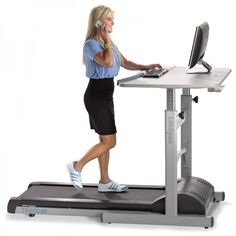 Get fit while you work with the LifeSpanTreadmill Desk
