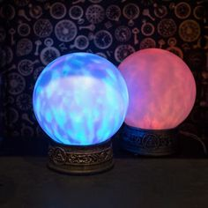 MAGIC LIGHT ORB Orb Light, Light Up, Halloween Ornaments, Halloween Decorations, Rogers Gardens, Magic Light, Fall Pumpkins, Crystal Ball, Color Change