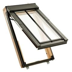 Conservation roof windows are designed to complement old buildings. The black external profiles and vertical glazing bar will look great in any barn conversion, church roof or historic property.