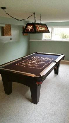 The Jack Daniels pool table now has a jack Daniels light to match!!