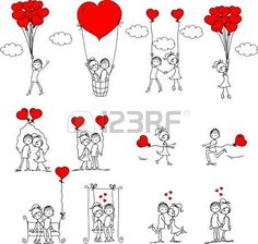 Find Valentine Doodle Boy Girl Vector stock images in HD and millions of other royalty-free stock photos, illustrations and vectors in the Shutterstock collection. Valentine Doodle, Valentines, Stick Figures, Love People, Doodle Art, Painted Rocks, Coloring Pages, Boy Or Girl, Stencils