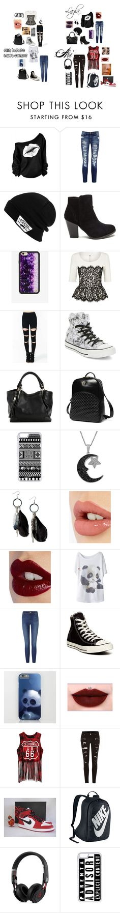 """""""Ella's First Day of School"""" by caberry on Polyvore featuring Current/Elliott, Vans, Wildflower, St. John, Converse, Princess Carousel, CellPowerCases, Jewel Exclusive, MANGO and Charlotte Tilbury"""