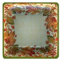 Autumn Garland Dinner Plates | PaperStyle