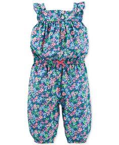Carter's Baby Girls' Floral Jumpsuit