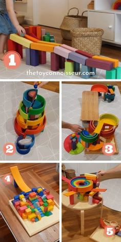 Grimms Rainbow Ideas: 50 Ways to Play with the Rainbow - The Toy Connoisseur Grimm's Toys, Diy Toys, Toddler Play, Toddler Activities, Grimms Rainbow, Wooden Rainbow, Waldorf Toys, Montessori Toys, Classic Toys