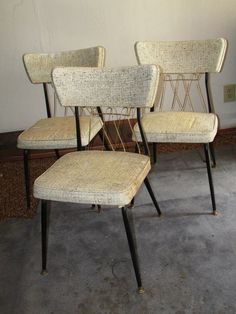 Mid Century Virtue Brothers  Black and Brass Dinette Chairs on Etsy, $175.00