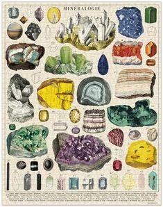 Cavallini Puzzle - Mineralogy, 1,000 pieces