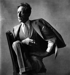 Irving Penn: Jean Cocteau #irvingpenn #cocteau #fashion #portrait #striking #blackandwhite