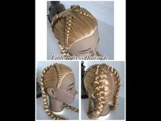 Trenza de 4 cabos con coleta | peinados faciles y bonitos con trenza -Little Princess Hairstyle - YouTube