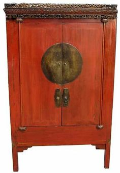 Antique Asian Furniture: Antique Chinese Red Lacquered Wedding ...