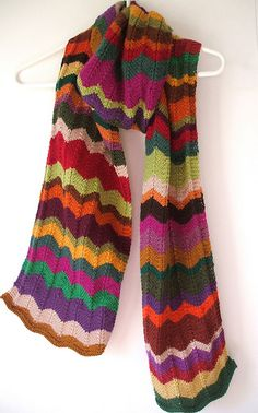 Knitted ripple scarf | Ruth | Flickr