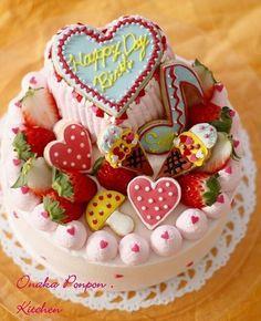 ■愛する娘へ♡ バースデイケーキ♡ by れっさーぱんださん | レシピ ...