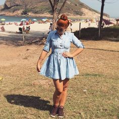 Jeans dress - Bianca Andrade (Blog Boca Rosa)