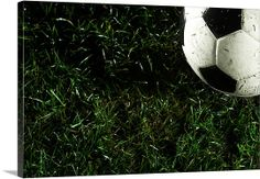 Premium Thick-Wrap Canvas Wall Art Print entitled Soccer ball in grass, None Soccer Drills For Kids, Soccer Practice, Soccer Images, Safe Games, Running Drills, College Games, Train Activities, Best Football Players, Wall Art Prints