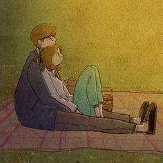 А бывают моменты, когда не нужны слова... Любовь в мелочах - художник под ником Puuung. Обсуждение на LiveInternet - Российский Сервис Онлайн-Дневников