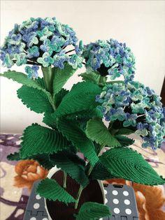 Horgolt hortenzia, hydrangea, crochet