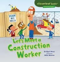 Kids may not be able to visit a construction zone, but Let's Meet a Construction Worker gives young readers a chance to learn about the different jobs that these community helpers have as they build a new, environmentally friendly school.  This thin chapter book would be a nice addition to a second grade class as a book for individual reading for research during a unit about community helpers or careers.  #2ndgrade http://2ndgradereading.net