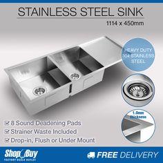 Undermount Kitchen Sink With Drainer zero radius hand made under mount stainless steel kitchen double
