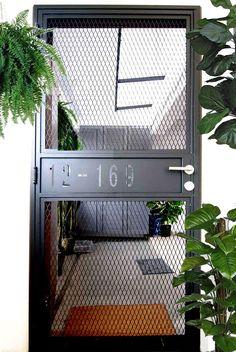 8 HDB front door ideas to make your neighbours green with envy, Lifestyle News - AsiaOne Door Grill, Grill Door Design, Door Gate Design, House Gate Design, Window Grill, Front Door Design, Fence Design, Exterior Design, Interior And Exterior