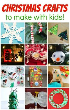 Kids love doing craft projects during the holidays!  Even those that don't normally want to