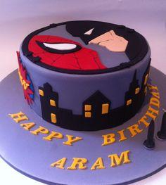 Batman & Spider-Man Cake