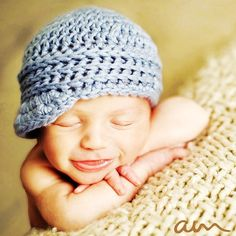 Free Crochet Boys Hat Patterns | Crochet Pattern PDF - Lil Jackie Hat, Newsboy, Sizes Preemie to Adult ...