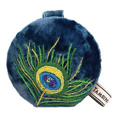 This compact mirror has a plush velvet outer and features our divine Peacock design. Peacock Design, Compact Mirror, Mirrors, Feather, Plush, Sequins, Velvet, Accessories, Fashion