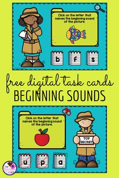 Do you need a digital activity to practice beginning sounds with your kindergarten or first grade students? If so, then this free activity is the one for you! Students will use phonemic awareness to match a letter with the sound they hear at the beginning Phonics Games, Teaching Phonics, Kindergarten Phonics, Behavior Plans, Behavior Charts, First Grade Phonics, Whole Brain Teaching, Beginning Sounds, Phonemic Awareness