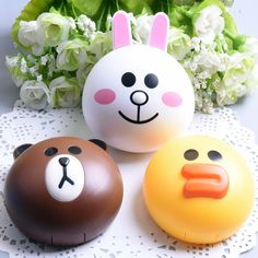 Cute Mini Cartoon Plastic Contact Lens Box Bear Rabbit Chicken Shape Contact Lens Travel Case Contact Lens for LINE #apparel #accessories