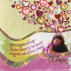 Grandparenting Love - Scrapbook.com - #scrapbooking #layouts