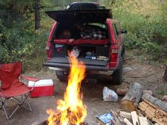 This seems ideal. very little setup! But I wouldn't be able to have a bunch of stuff in there... The goal is to live out of my truck.