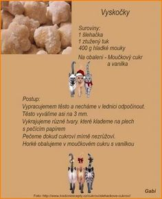 Christmas Candy, Christmas Baking, Christmas Cookies, Czech Recipes, Ciabatta, Desert Recipes, Vegetarian Recipes, Food And Drink, Drinks
