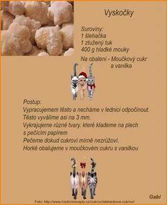 Vyskocky Christmas Candy, Christmas Baking, Christmas Cookies, Czech Recipes, Ciabatta, Desert Recipes, Vegetarian Recipes, Food And Drink, Drinks
