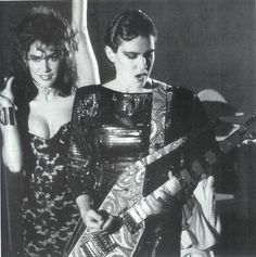 "Susannah Melvoin and Wendy Melvoin: identical twin musicians and former Prince protegees. Wendy was his guitarist in The Revolution, and Susannah was lead singer of The Family. She was also engaged to Prince in the mid 1980s. Pic from the ""Girls & Boys"" video."