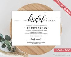 Bridal Shower Template New Rustic Bridal Shower Invitation Templateprintable Bridal Shower .