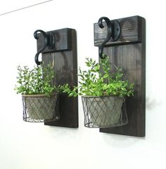 Farmhouse Wall Decor Hanging Terra Cotta Pot..Rustic Pot in