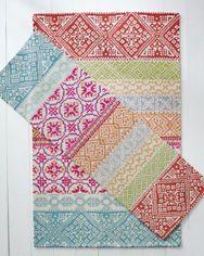Garnet Hill Nordic Fair Isle Hooked Wool Rug