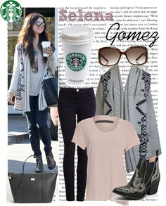 Selena Gomez Style--a cute and effortless fall/winter weekend outfit.