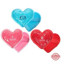Ariel :: Plush Heart Hot/Cold Pack Pastel Blue