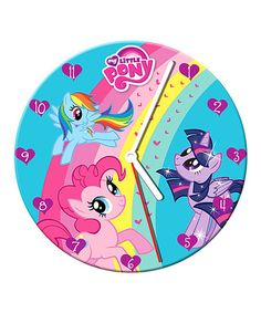Loving this My Little Pony Wall Clock on #zulily! #zulilyfinds